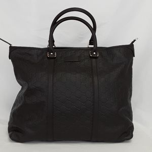 New GUCCI 201482 black leather tote Hangbag